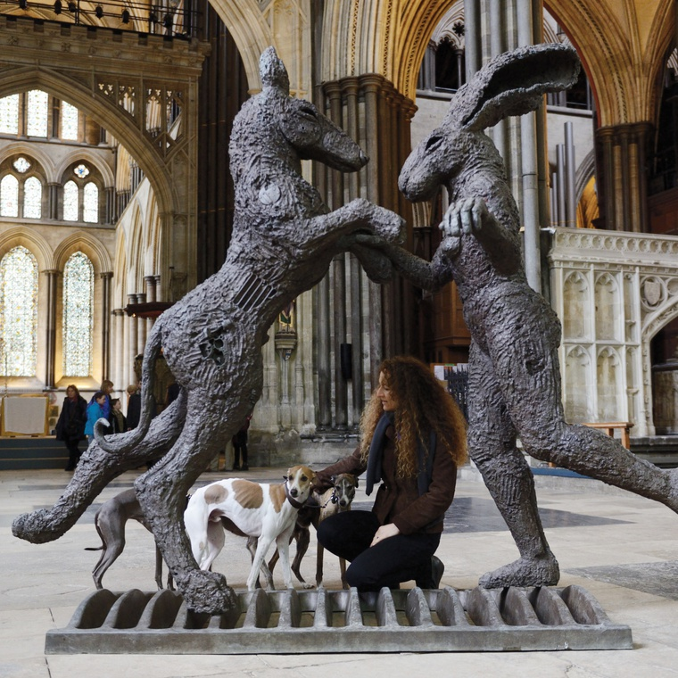 Sophie Ryder at Salisbury Cathedral